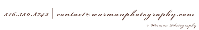 Warman Photography Footer Image with contact information. Phone 5163508742. Email contact@warmanphotography.com